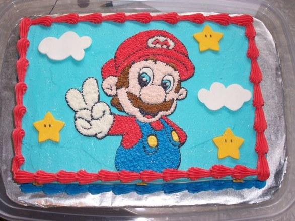 Картинки для тортов с марио